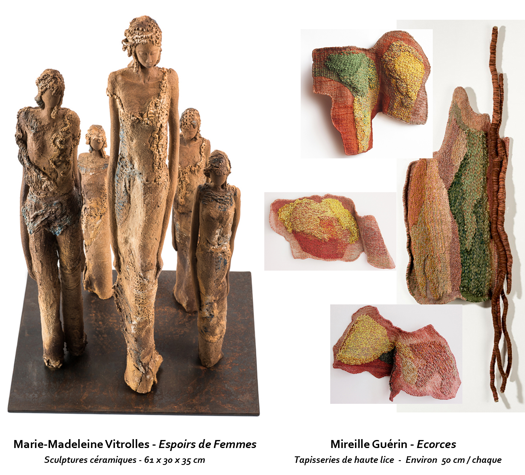 New Artworks of Mireille Guérin and Marie-Madeleine Vitrolles